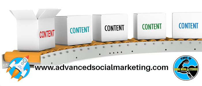 You too can become a content factory, as if boxes and boxes of effective content are rolling don a conveyor belt to grow your following!